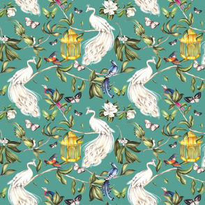 Chinoiserie - Turquoise - Small Scale
