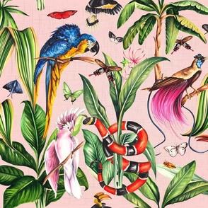 Tropical Paradise Pink Linen
