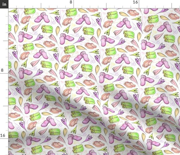 Colorful fabrics digitally printed by Spoonflower - pixelated fluid  painting caribbean feeling