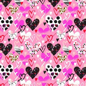 Pink hearts doodle 18_0410