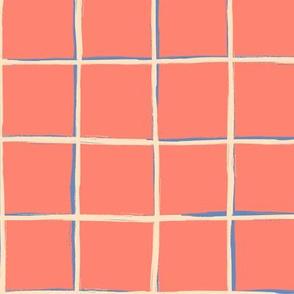 Coral pink pool tiles pattern 18_0621
