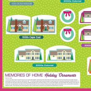 Memories of Home ornaments (yardage)