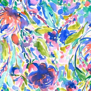 maximal floral vibrant large scale