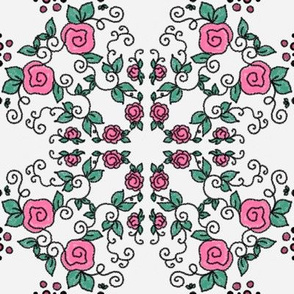 Lem Project 906 | Roses on White