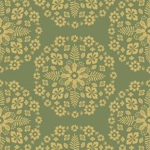 Floral Mandala - Mossy Green & Chartruese