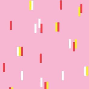 Minimal rain drops nineties revival retro design pink yellow orange
