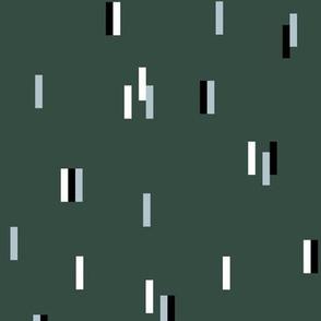 Minimal rain drops nineties revival retro design winter green blue