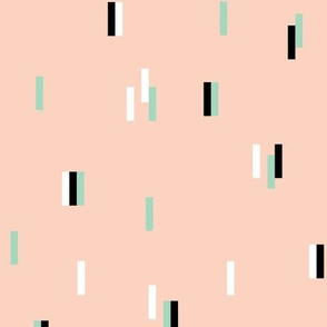 Minimal rain drops nineties revival retro design spring peach mint