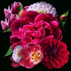 Moody Fuchsia Floral