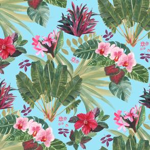 Lush Tropical Bohemian-Blue