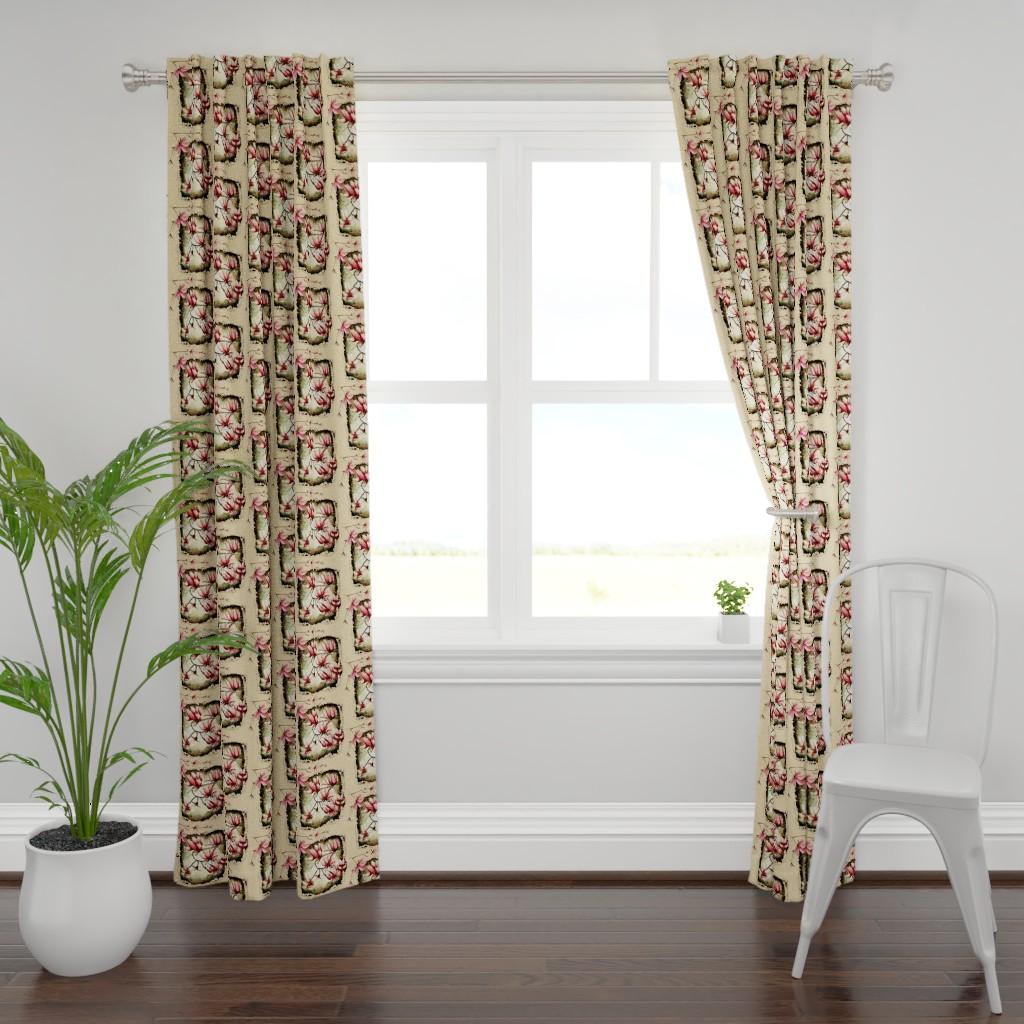 Plymouth Curtain Panel featuring SECRET GARDEN by hunnellekari