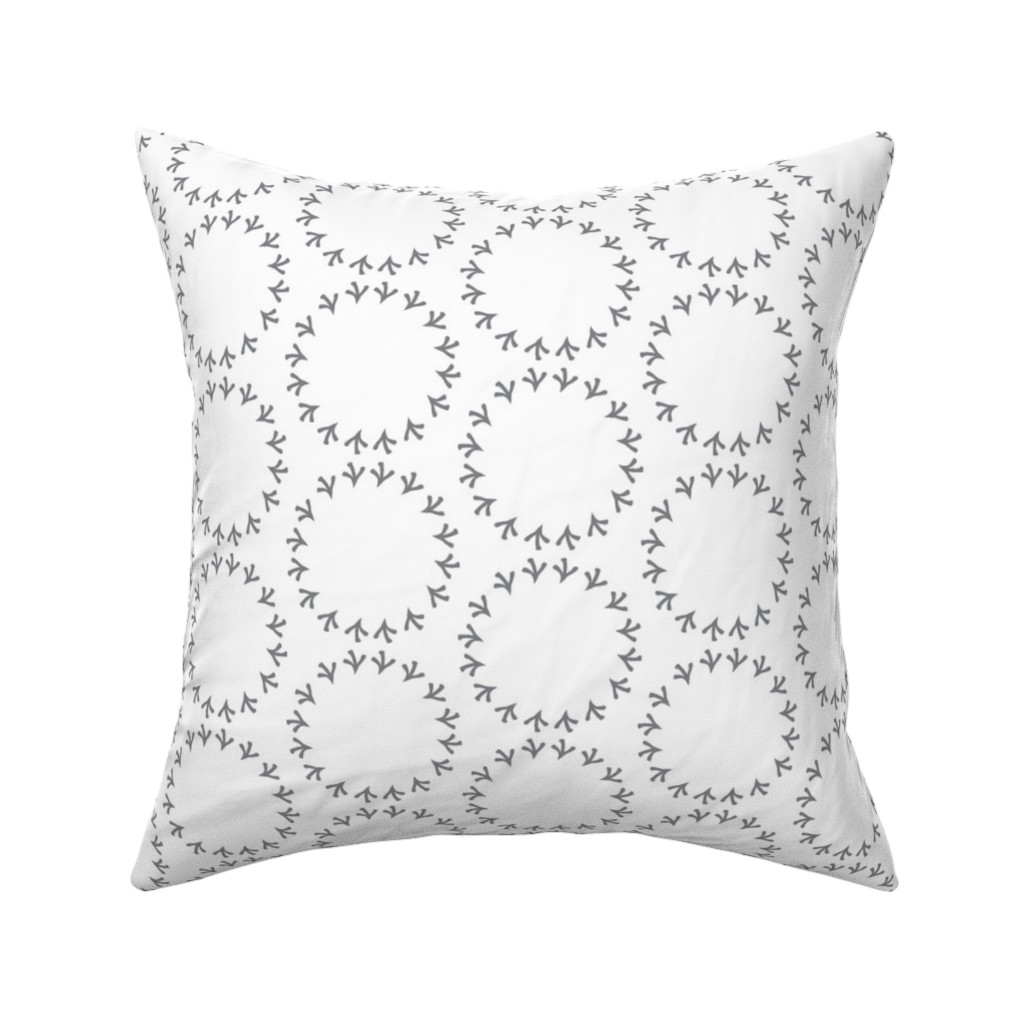 Catalan Throw Pillow featuring Gray Polka Dot by rebeccaink