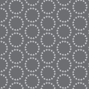 Dark Gray Polka Dot