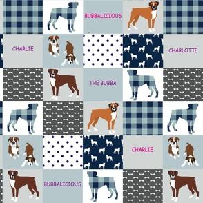 Boxer Dog Quilt design