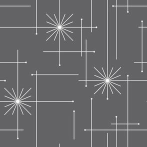 Orbs Starburst - Gray/White