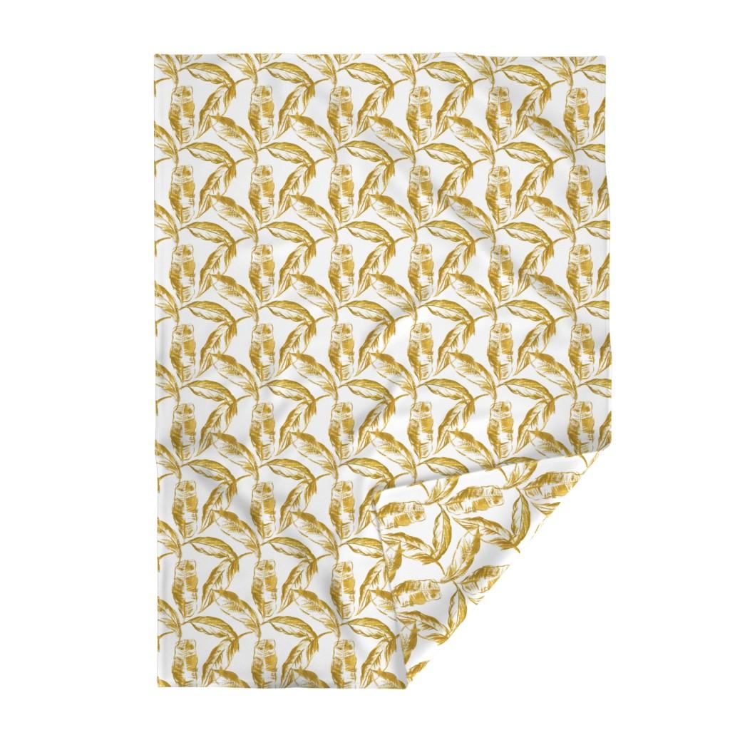 Lakenvelder Throw Blanket featuring Banana leaf by melissahyattfabrics