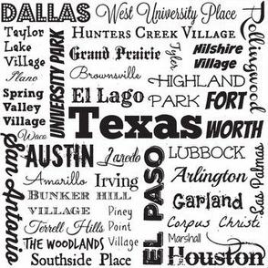 Texas cities, white