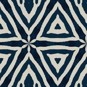navy zebra tribal pattern