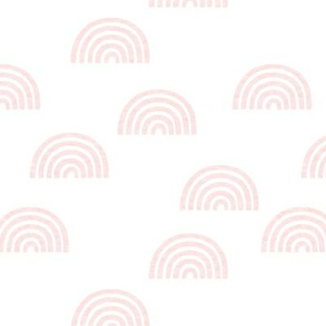ML light Pink textured rainbow on white background