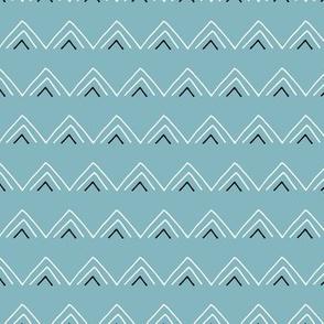 Geometric minimal triangles mudcloth abstract aztec design blue