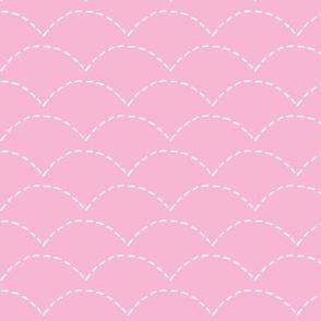 Minimal ocean waves scallops mudcloth textured ethnic aztec indian summer design pink girls