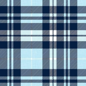 Navy and baby blue fall plaid - Golf wholecloth coordinate - LAD19