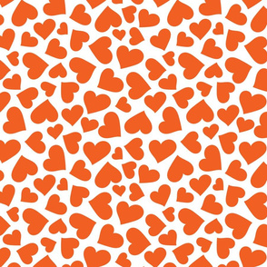 Intense Orange Hearts
