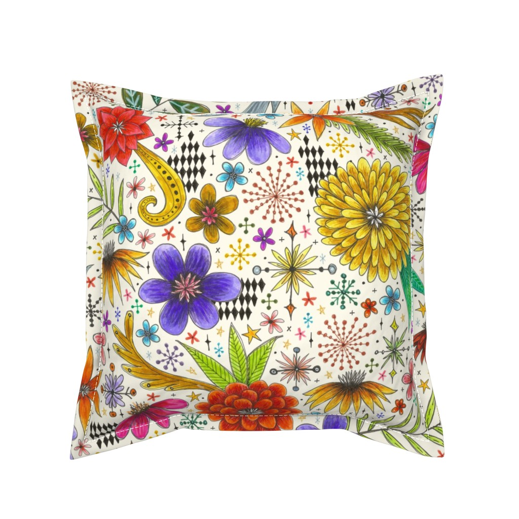 Serama Throw Pillow featuring more is more by swoldham
