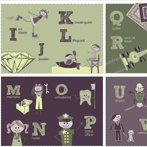 Cloth Baby Book - Alphabet Careers
