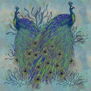peacock Print double