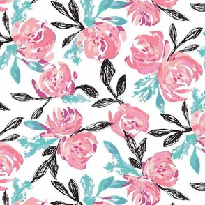 Blushing Floral - White - Small