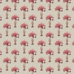 My vase of flowers in creamy pink
