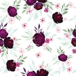 watercolor Purple flower