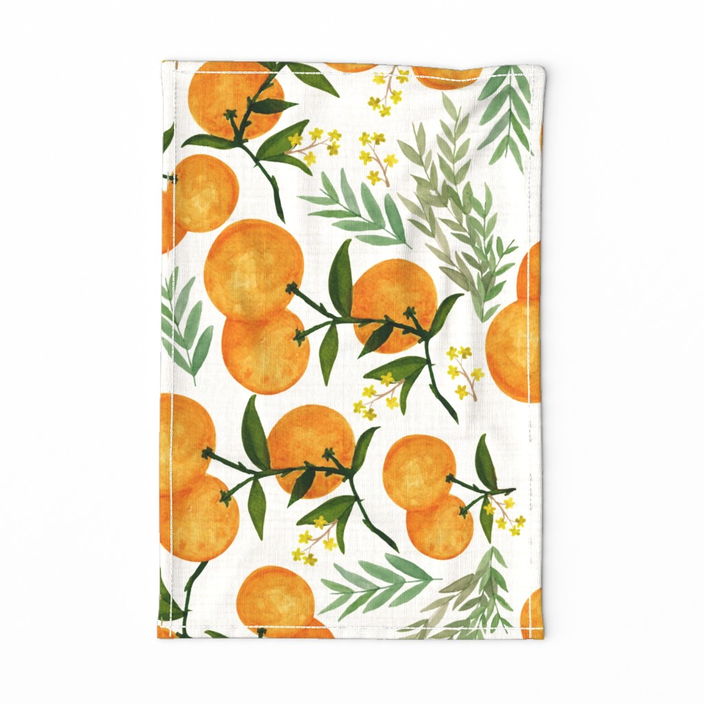 Special Edition Spoonflower Tea Towel featuring Orangey by glitterrelics