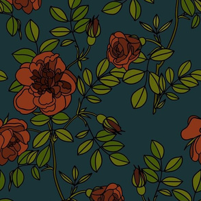 Climbing roses - Moody floral