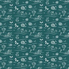 Chameleon in Petrol Green