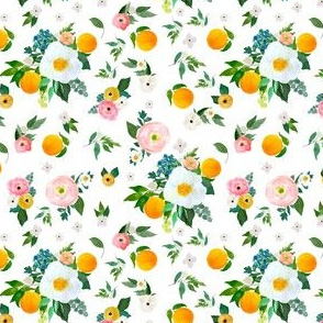 """4"""" Spring Blooms with Oranges White"""