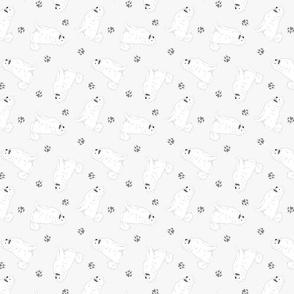 Tiny Samoyed - gray