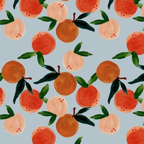 sweet clementines on sky