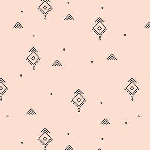 Geometric minimal indian summer mudcloth abstract aztec kilim design beige