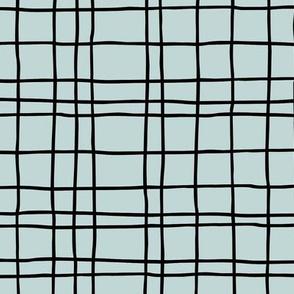 Minimal irregular stripes abstract linen lines geometric grid spring mint green