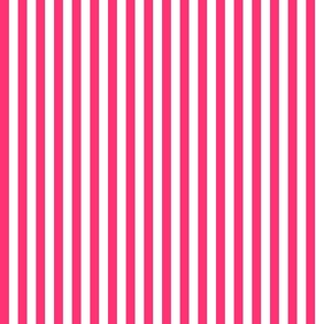 Deep Pink and White Stripe