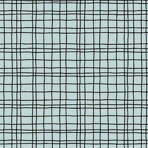 Minimal irregular stripes abstract linen lines geometric grid spring mint green SMALL