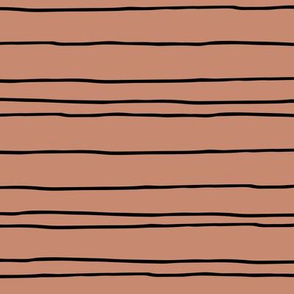 Minimal strokes irregular stripes abstract lines geometric fall copper brown