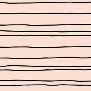 Minimal strokes irregular stripes abstract lines geometric spring peach baby