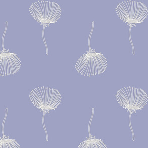 Large Scale Dainty Flowers on Periwinkle