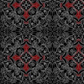 StacyCK Studio - Gothic Grey Damask V2
