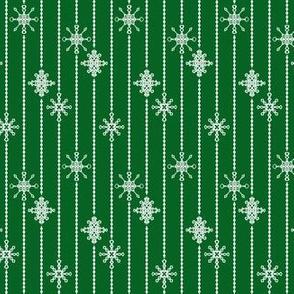 Snowflake Decorations, Cloak Green