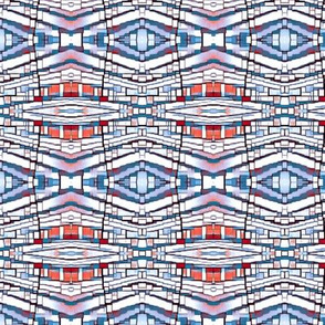 Faded Arizona in red, white and blue