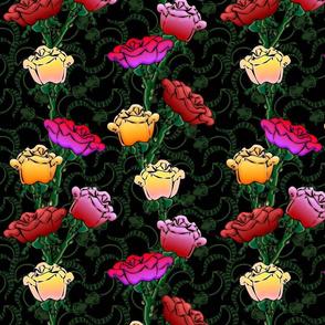 cartoon roses2
